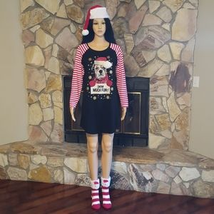 Christmas 3 pieces set of dress, socks and hat